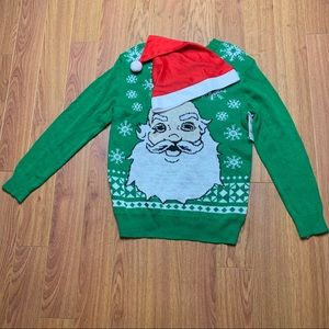Jem Holiday Sweater with removable Santa h…
